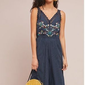 dRA Jenny Embroidered Jumpsuit $178 Anthropologie